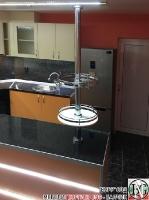 K013 - Разчупена кухня с барплот, Слонова кост, Оранж пастел_15