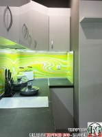 K015 - Кухня: Бял гланц, Grey Pietra Marble, Дъга_3