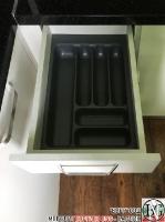 K003 - Кухня: Снежно бяло фладер и Аполон черен гланц_14