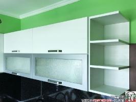 K003 - Кухня: Снежно бяло фладер и Аполон черен гланц_17
