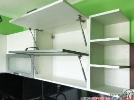 K003 - Кухня: Снежно бяло фладер и Аполон черен гланц_19