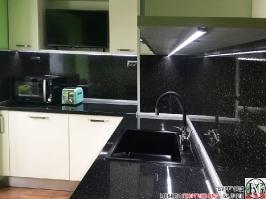 K003 - Кухня: Снежно бяло фладер и Аполон черен гланц_20