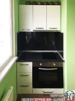K003 - Кухня: Снежно бяло фладер и Аполон черен гланц_5
