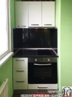K003 - Кухня: Снежно бяло фладер и Аполон черен гланц_6