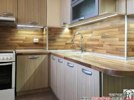 K004 - Кухня: Дъб Ферара и Porterhouse Walnut _3