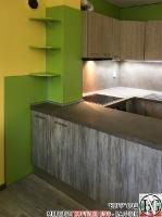 K005 - Кухня: Dark Astwood, Зелен пастел, F049 и PS54_8