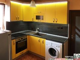 K007 - Кухня: Жълто/Sunshine, Зебрано сахара и етно венге - Кафяво_1