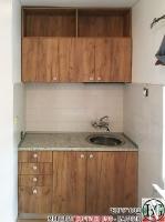 K009 - Кухня: Дъб Крафт голд и Мрамор Терацо светъл