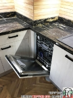 K011 - Кухня: White Coastland Oak, Мрамор лаурент и гранит Black Cosmos_11