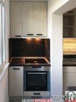 K011 - Кухня: White Coastland Oak, Мрамор лаурент и гранит Black Cosmos_19