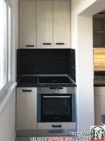 K011 - Кухня: White Coastland Oak, Мрамор лаурент и гранит Black Cosmos_20