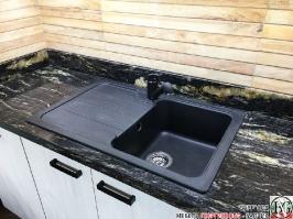 K011 - Кухня: White Coastland Oak, Мрамор лаурент и гранит Black Cosmos_25