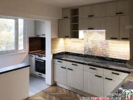 K011 - Кухня: White Coastland Oak, Мрамор лаурент и гранит Black Cosmos_26