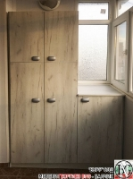 DR014 - Шкафове за тераса: Дъб Крафт/ Бял_1