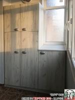 DR014 - Шкафове за тераса: Дъб Крафт/ Бял