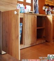 DR011 - Шкаф с отделение за кош за дрехи и рафт за стена: Дъб Крафт голд_1