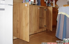 DR011 - Шкаф с отделение за кош за дрехи и рафт за стена: Дъб Крафт голд_2