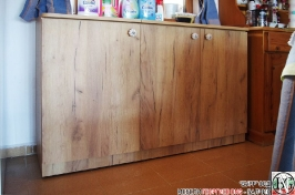 DR011 - Шкаф с отделение за кош за дрехи и рафт за стена: Дъб Крафт голд_4