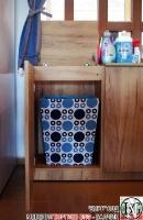 DR011 - Шкаф с отделение за кош за дрехи и рафт за стена: Дъб Крафт голд_5