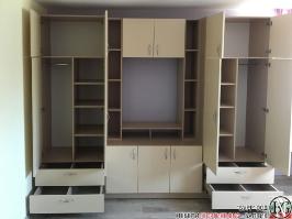 D003 - Секция за детска стая с бюро: Макиато и Беже_2