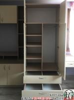 D003 - Секция за детска стая с бюро: Макиато и Беже_3