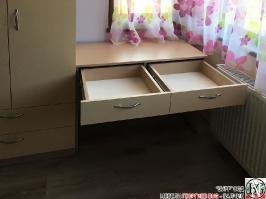 D003 - Секция за детска стая с бюро: Макиато и Беже