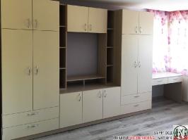 D003 - Секция за детска стая с бюро: Макиато и Беже_6