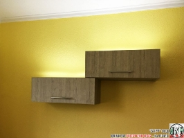 V004 - Скрин за хол и шкафчета за стена: Орегон и Dark Astwood_5
