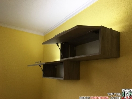 V004 - Скрин за хол и шкафчета за стена: Орегон и Dark Astwood